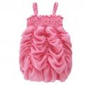 AQDDZ Sweet Pink Chiffon Dress 外贸粉红色超可爱雪纺吊带裙