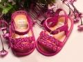 Adams Baby Dark Pink Sandals 女生玫红色凉鞋