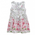 BABY'S Roses White Dress 玫红色玫瑰印花梭织公主裙