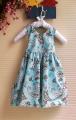 BLUEBERI Floral Blue Dress 闪片花花清凉洋装