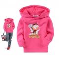 BOSSINI Kids Bee Pink LS Hoodie Top 枚红色蜜蜂带帽长袖