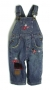 Baby Gap Star Flowers Jeans Overalls 女生拼布背带裤