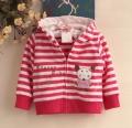 Carter's Forest Fun Rose Pink Stripe Jacket 小老鼠条纹外套【西瓜红】