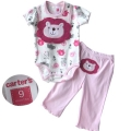 Carter's Cutie Lion Pink 3pcs Set 狮子造型动物印花三件套