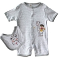 Carter's Giraffe Grey Stripe 2 Pcs Romper Set 灰色细条长颈鹿哈衣二件式
