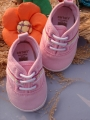Carter's  Pink Lace Up Canvas Shoes 小女生粉色鞋鞋