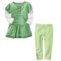 GAP Green Stripe 2 Pcs Set 绿色条纹女童套装