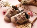 GUESS Bear Prints Brown Crib Shoe 小熊脚印鞋鞋