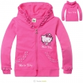 HELLO KITTY Pink Hoodie Jacket 粉色纯棉毛圈带帽外套 (Design 9)