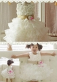 KOOPO Roses Cream Party Dress 女童玫瑰花连衣裙