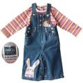 M&CO Cute Bunny Jeans Overalls Set 可爱小兔女童吊带裤套装