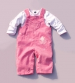 M&CO Embroidery Little Angel Pink Overalls Set 粉色小天使背带裤套装