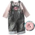 M&CO Little Bird Jeans Overalls Set 可爱小鸟纯棉套装