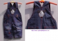 Next Little Mouse Soft Jeans Overalls  小老鼠背带裤