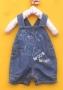 Next Woof Woof Short Jeans Overalls 小狗狗牛仔背带裤