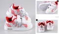 ADIDAS Red Silver White Shoe(with light) 白/红/银色休闲鞋(有鞋灯)