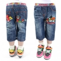 AQDDZ Angry Bird Quarters Denim Pant  愤怒鸟纯棉洗水牛仔压皱中裤 (Design 1)
