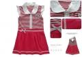 AQDDZ Red Stripe Dress 红条小熊贴布中大童洋装裙