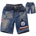 AQDDZ Thomas Train Pocket Quarters Jeans 火车贴布绣花洗水牛仔中裤 -Design 6