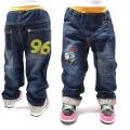 AQDDZ Thomas Train Long Jeans (Design 1) 韩单/火车头纯棉洗水牛仔长裤