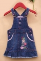 Adam Kids Denim Overalls Dress 小喜鹊刺绣背带裙
