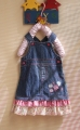 Adam Kids Embroidery Flowers Overalls Jeans Dress 刺绣花花背带裙