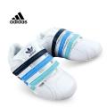 Adidas Blue Stripe Velcro White Sport Shoe 白深蓝小童款休闲鞋 (Restock)