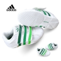Adidas Green Stripe Velcro White Sport Shoe 白深绿小童款休闲鞋