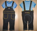 Ano:ne  Smally 2 Pcs Overalls Set ~ Blue 蓝色背带裤套装