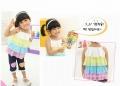 B2W2 Korea Colourful Layers Top 官网同步彩虹雪纺吊带衫