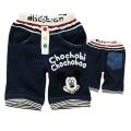 B2W2 Mickey Blue Pant 深蓝色米奇贴布印花中裤