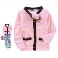 B2W2 Rose Pink Top 浅粉色立体花贴布针织衫