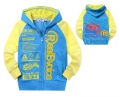 BABY CROSS Yellow Blue Trendy Jacket 黄蓝色字母带帽外套