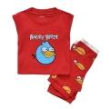 BABY GAP Angry Bird Red 2 Pcs Casual Set 红色愤怒的小鸟贴布印花针织家居套装