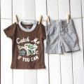 BABY GAP Brown 2pcs Set 原单啡色二件套套装