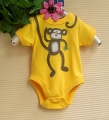 BABY SIZER Little Monkey Yellow Romper 小猴子贴布绣哈衣