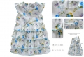 BABY'S Floral Layers Blue Dress 蓝色满身碎花梭织公主裙