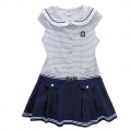 BABY'S Sailor Blue Stripe Dress 蓝白条梭织有领连衣裙