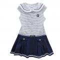 BABY'S Sailor Blue Stripe Dress 蓝白条梭织有领连衣裙