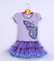 BEAUTEES Butterfly Purple Dress 美单蝴蝶裙