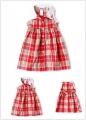 BLUEBERI Red Checker Dress 田园气质公主裙