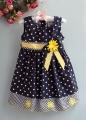 BLUEBERi Saphire Blue Sunflower Dress 太阳花圆点洋装【宝蓝】