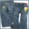 BLVC Embroidered Sunflower Jeans 刺绣太阳花牛仔裤