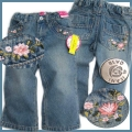BLVC Embroidered Faded Blossom Jeans 刺绣梅花怀旧牛仔裤