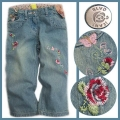 BLVC Embroidered Faded Roses Jeans 怀旧色刺绣玫瑰牛仔裤