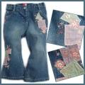 BLVC Patchwork Flowers Jeans 女孩拼布牛仔裤