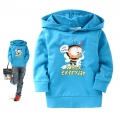 BOSSINI Kids Bee Light Blue LS Hoodie Top 彩蓝色蜜蜂带帽长袖