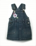 Baby Gap Flower Soft Jeans Overalls Dress 绣花背带裙