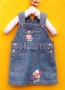 Baby Gap Love Soft Jeans Overalls Dress 心型背带裙