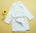 BeiBei Flowers White Bath Robe 碎花纯棉薄毛巾浴袍